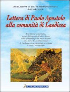 Lettera di Paolo Apostolo alla comunità di Laodicea