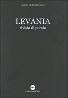 Cefalufilmfestival.it Levania. Rivista di poesia (2013). Vol. 2 Image