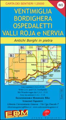 Daddyswing.es IM 3 Imperia, Ventimiglia, Pigna, alta via dei monti liguri 1:25.000 Image