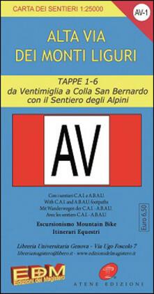 Criticalwinenotav.it AV-1 Alta via dei monti liguri. Carte dei sentieri di Liguria Image