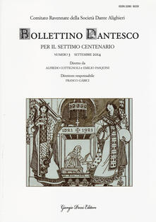 Ristorantezintonio.it Bollettino dantesco. Per il settimo centenario (2014). Vol. 3 Image