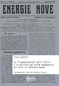 La «rigenerazione» dell'Italia e la politica del primo dopoguerra. Gli anni di «Energie nove»
