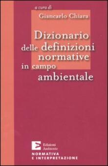 Ristorantezintonio.it Dizionario delle definizioni normative in campo ambientale Image