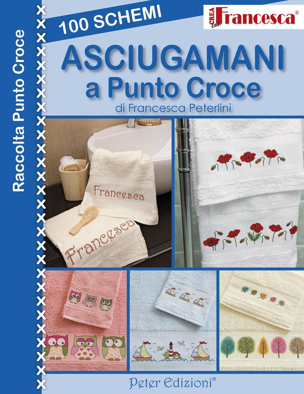 100 schemi asciugamani a punto croce