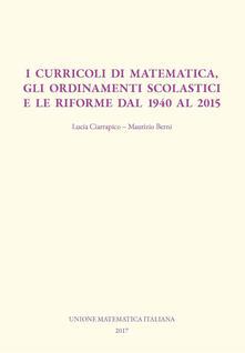 Fondazionesergioperlamusica.it I curricoli di matematica, gli ordinamenti scolastici e le riforme dal 1940 al 2015 Image