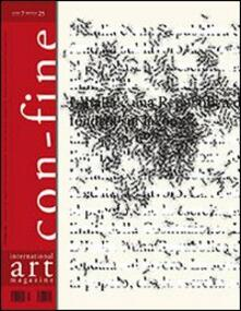 Con-fine art magazine. International art magazine. (In) comunicabilità 1. Silenzi. Ediz. multilingue - copertina