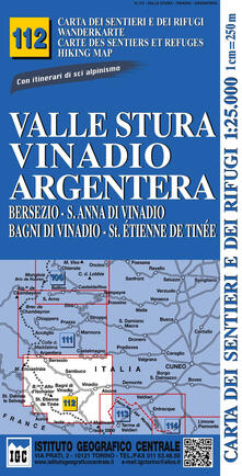 Atomicabionda-ilfilm.it Carta n. 112 Valle Stura, Vinadio Argentera 1:25.000. Carta dei rifugi. Serie monti Image