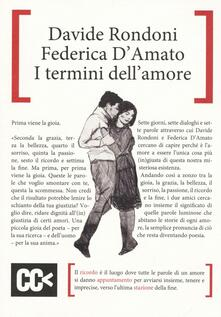I termini dell'amore - Federica D'Amato,Davide Rondoni - copertina