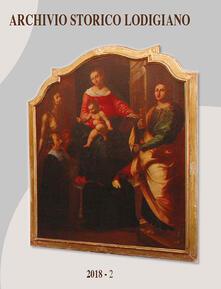Archivio storico lodigiano (2018). Vol. 2 - copertina