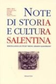 Note di storia e cultura salentina