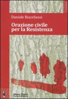 Orazione civile per la Resistenza - Daniele Biacchessi - copertina