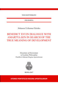 Benedict XVI in dialogue With Amartya Sen in Search of the true meaning of development