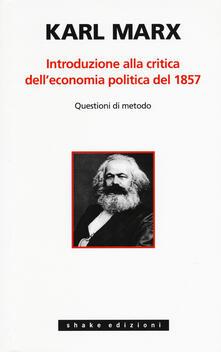 Introduzione alla critica dell'economia politica - Karl Marx - copertina