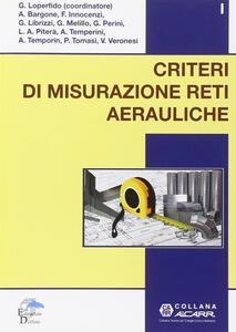Libro Criteri di misurazione reti aerauliche