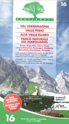 Listadelpopolo.it Carta n. 16. Val Vermenagna, Valle Pesio, Alta Valle Ellero, Parco naturale del Marguareis 1:25.000 Image