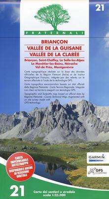 Antondemarirreguera.es Carta n. 21. Briançon, Vallée de la Guisane, Vallée de la Clarée. Carta dei sentieri e stradale scala 1:25.000 Image