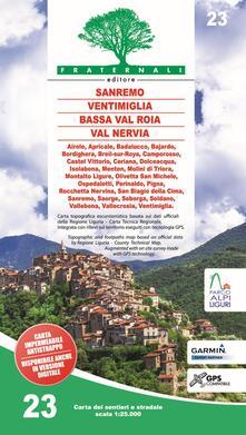Carta n. 23. Sanremo, Ventimiglia, Bassa Val Roia, Val Nervia. Carta dei sentieri e stradale scala 1:25.000.pdf