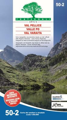 Librisulladiversita.it Carta n. 50.2. Val Pellice, Valle Po, Val Varaita. Carta dei sentieri e stradale scala 1:50.000 Image