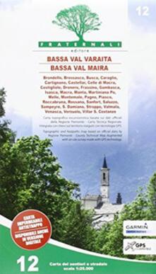 Camfeed.it Carta n. 12. Bassa Val Varaita, Bassa Val Maira. Carta sentieri e stradale 1:25.000 Image