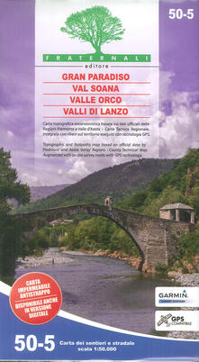 Ilmeglio-delweb.it Carta n. 50-5. Gran Paradiso, Val Soana, Valle Orco, Valli di Lanzo 1:50.000 Image