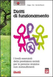 Diritti di funzionamento. I livelli essenziali delle prestazioni sociali per le persone anziane non autosufficienti