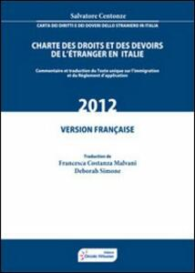 Charte des droits et des devoirs de l'étranger en Italie