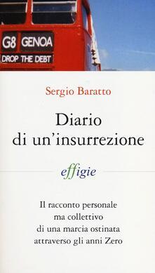 Diario di un'insurrezione - Sergio Baratto - copertina