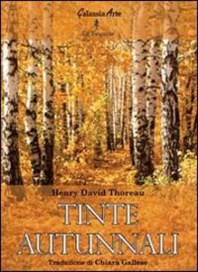 Tinte autunnali - Henry David Thoreau - copertina