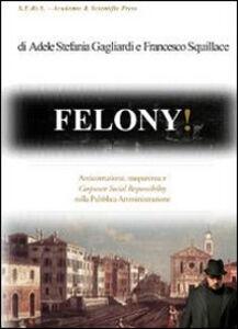 Felony! Anticorruzione, trasparenza e corporate social responsability nella pubblica amministrazione