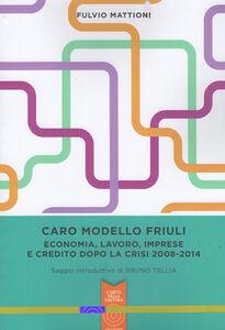 Caro modello Friuli. Economia, lavoro, imprese e credito dopo la crisi 2008-2014