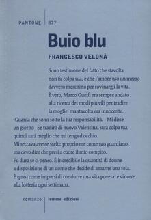 Buio blu - Francesco Velonà - copertina