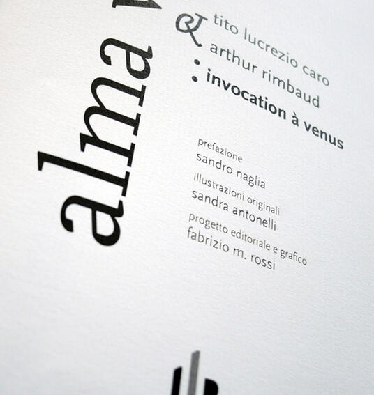 Alma Venus-Invocation à Venus - Tito Lucrezio Caro - copertina