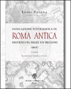 Indicazione topografica di Roma antica distribuita nelle XIV regioni
