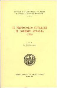 Il protocollo notarile di Lorenzo Staglia (1372). Testo latino a fronte