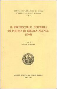 Il protocollo notarile di Pietro di Nicola Astalli (1368). Testo latino a fronte