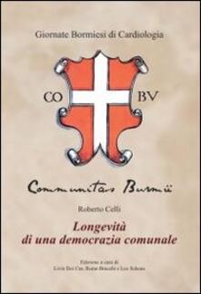 Longevità di una democrazia comunale - Roberto Celli - copertina