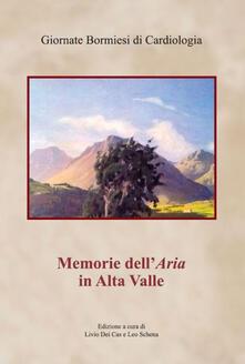Memorie dell'aria in Alta Valle - copertina