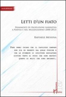 Letti d'un fiato - Raffaele Messina - copertina