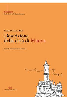 Descrizione della città di Matera - Nicolò Domenico Nelli - copertina