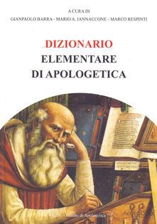 Dizionario elementare di apologetica - copertina