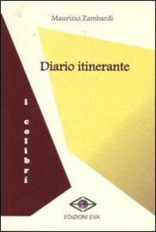 Diario itinerante - Maurizio Zambardi - copertina
