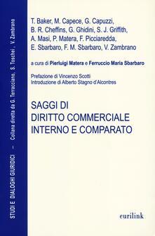 Saggi di diritto commerciale interno e comparato - copertina