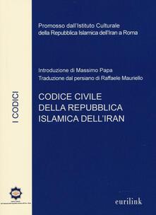 Codice civile della repubblica islamica dell'Iran - copertina