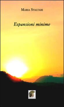 Espansioni minime - Maria Staltari - copertina