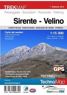 Sirente Velino. Campo Felice-Piani di Pezza-Magliano de' Marsi-Ovindoli. Carta dei sentieri 1:15.000 - copertina