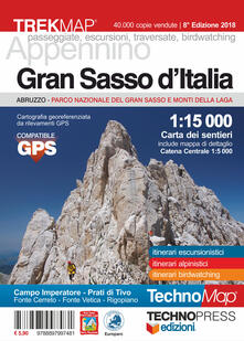 Gran Sasso d'Italia. Carta dei sentieri 1:15.000 - copertina