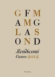 Rendiconti. Cuneo 2012 - copertina