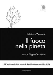 Il fuoco nella pineta - Gabriele D'Annunzio - copertina