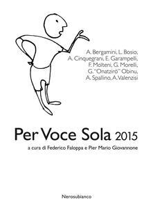Per voce sola 2015 - copertina