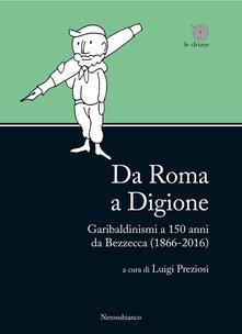 Da Roma a Digione. Garibaldinismi a 150 anni da Bezzecca (1866-2016) - copertina